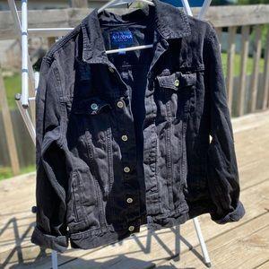 Arizona Oversized Distressed Jean Jacket